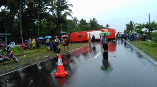 jasabuspariwisata-satu-tewas-akibat-truk-tabrak-bus-pariwisata