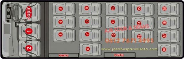 jasabuspariwisata-tips-sewa-elf-jakarta-harga-termurah-denah-seat