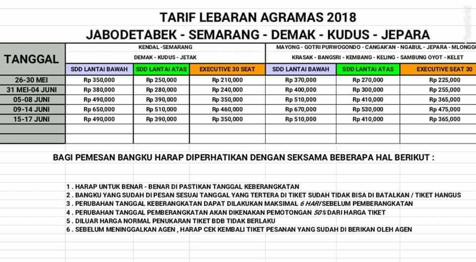 jasabuspariwisata-tarif-tiket-mudik-lebaran-bus-agra-mas-tahun-2018-jepara