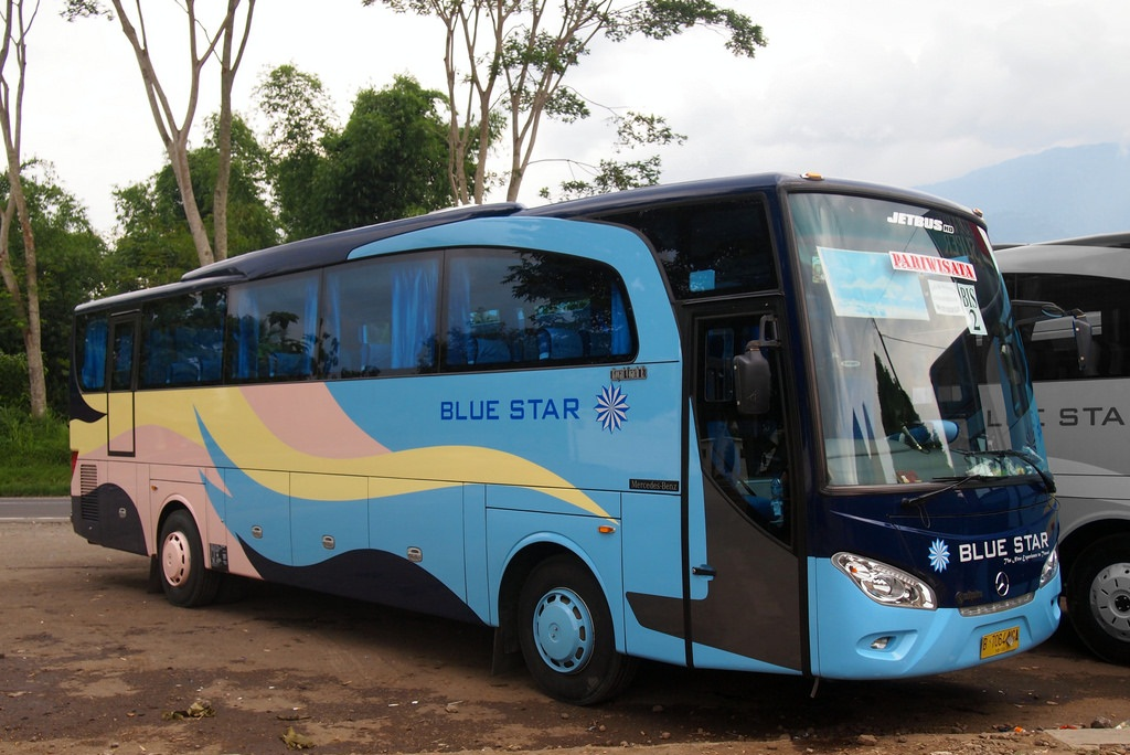 Menyewa Blue Star Bus