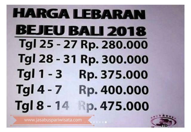 Harga Tiket Lebaran Bus Bejeu Tahun 2018 - Tiket Bali