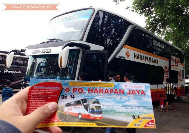 Harga Tiket Lebaran Bus Harapan Jaya 2018