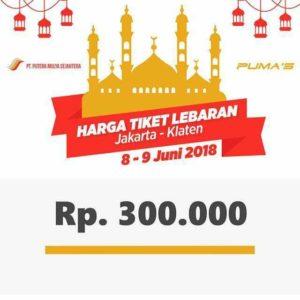 Harga Tiket Lebaran Bus Putera Mulya 2018 - Klaten 08-09 Juni