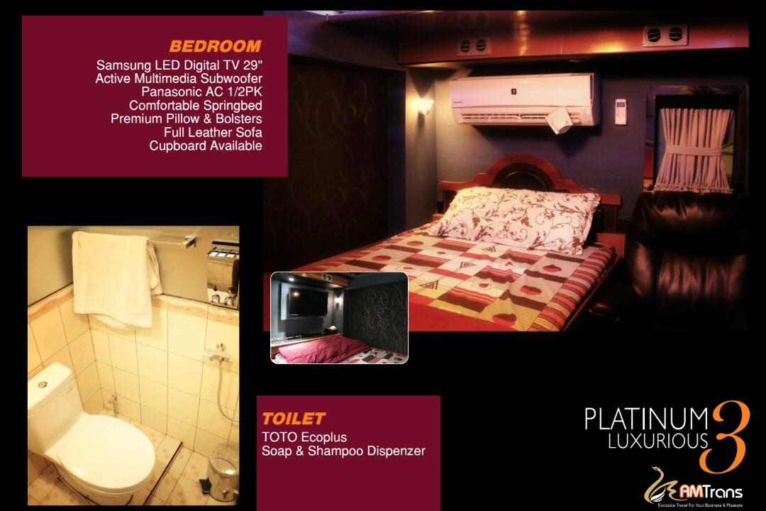 Comfortable Bed - 7 Fasilitas Luxury Bus Pariwisata yang Bikin Perjalanan Semakin Nyaman